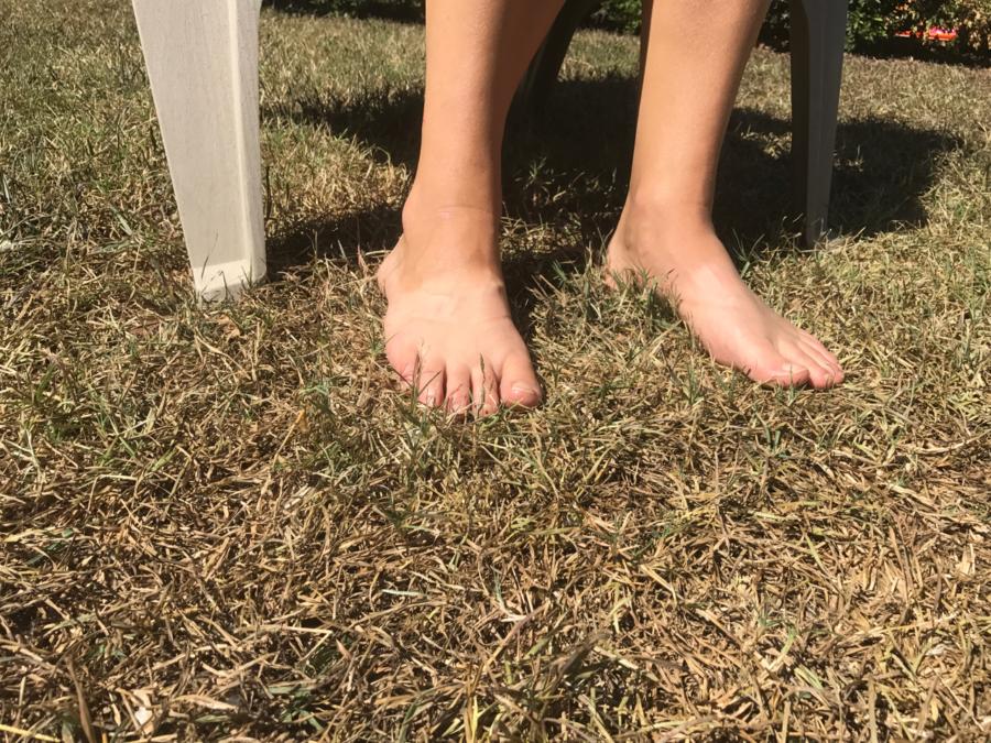 The rare occasion of bare feet