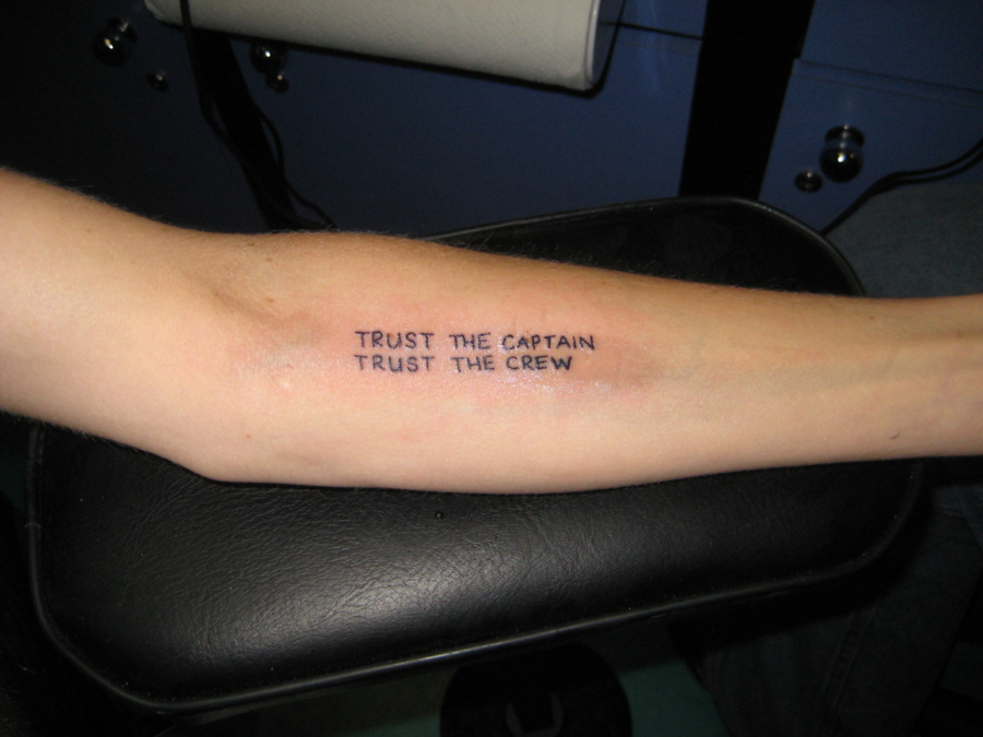 My very first tattoo, on my 30th birthday in 2009 / Covered by a bunch of grapes now