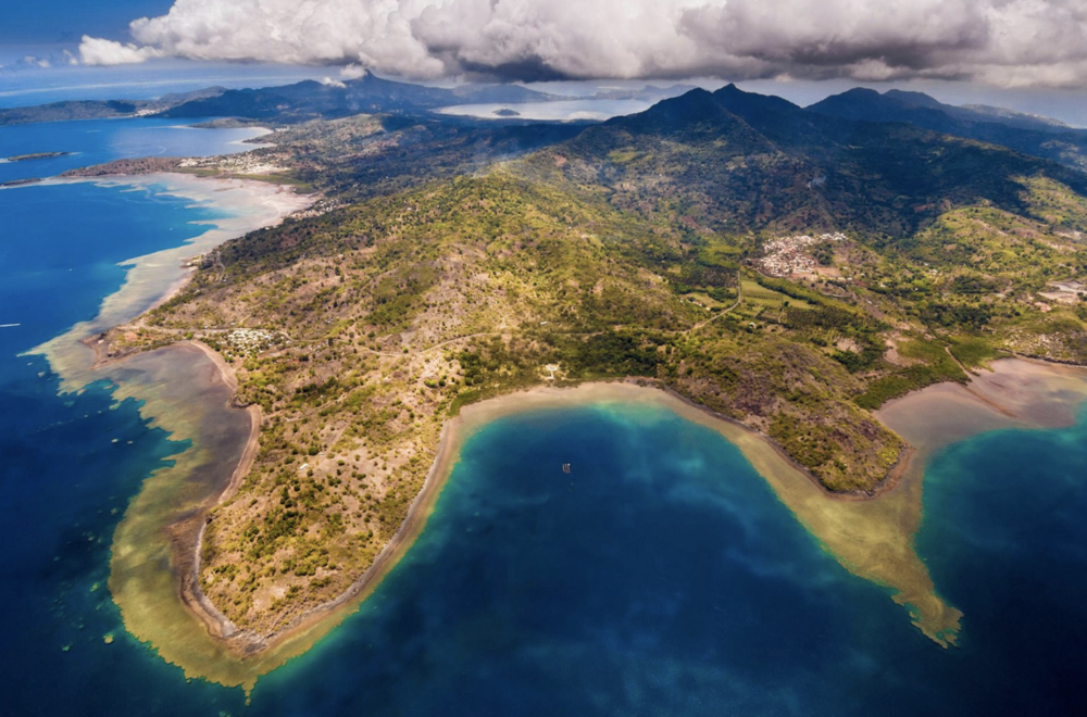 An aerial view of Mayotte's South Island.  PHOTOGRAPH BY  HEMIS  / ALAMY STOCK PHOTO