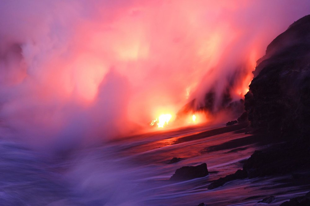 Molten rock poured like water from Hawaii's Kīlauea volcano this summer, destroying hundreds of homes. PHOTOGRAPH BY STEVE AND DONNA O'MEARA, NAT GEO IMAGE COLLECTION