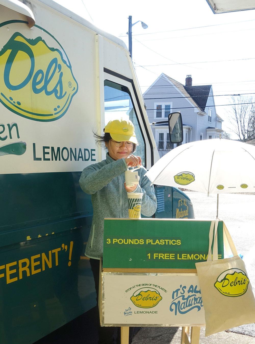 Debris lemonade branding