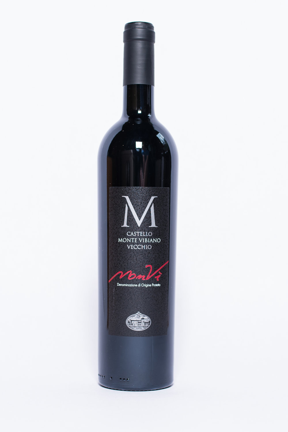 MonVì 2014    Producer:   Castello Monte Vibiano    Region:  Umbria  Grapes:  Sangiovese, Merlot, Cabernet Sauvignon and Cabernet Franc  Characteristics:  Complex, fruity aromas of blackberry and cherries with spiced notes. Medium bodied, the MonVì pairs excellently with risottos and barbecued food.