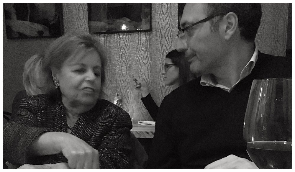 Castello Monte Vibiano Vecchio - Umbria, ItalyPictured: Nicole Rapp's Nonna, Maria Salvo and Export Director, Esteban Garcia PascualClick for producer website