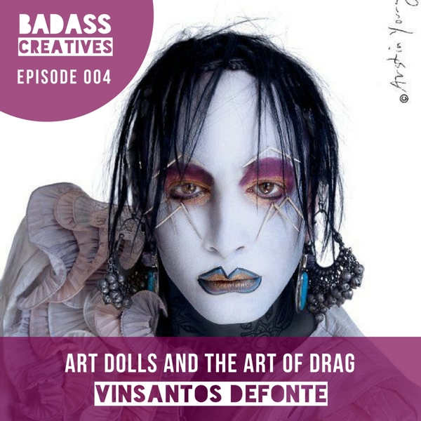 Vinsantos DeFonte is a drag performance artist, musician, assemblage art doll creator, and art gallery owner based in New Orleans. We talked about the New Orleans Drag Workshop and why kindness is at the heart of making a living as a creative.