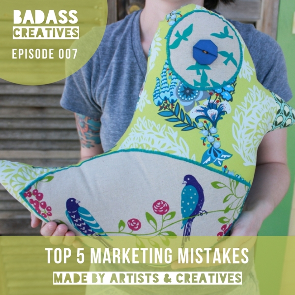 Host Mallory Whitfield shares the top 5 marketing mistakes that she sees artists & creatives make that prevent them from selling more of their handmade products online.