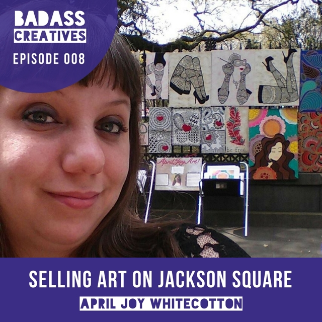 From the oil fields of North Dakota to selling her art on Jackson Square in the French Quarter of New Orleans, April Joy Whitecotton is a self-taught Zentangle artist who has had plenty of ups and downs in her artistic journey.