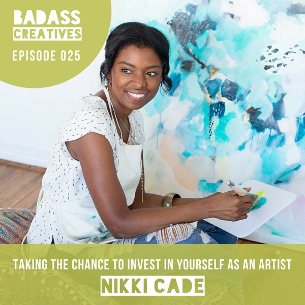 Nikki Cade made the leap from special education teacher to full-time artist a year ago. She's a world traveler whose work reflects her love of travel. We talk about following your intuition and how she got her work featured at Pottery Barn and Anthropologie.