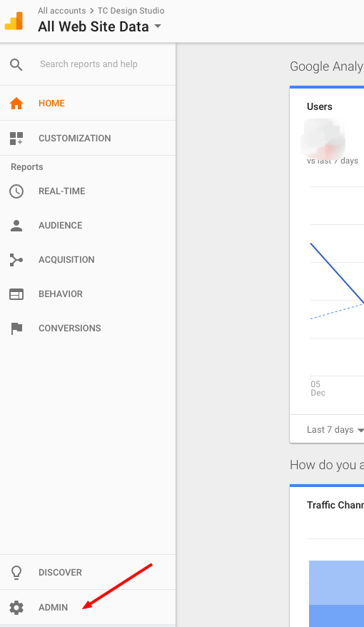 Google Analytics - Admin Setting | TC Design Studio
