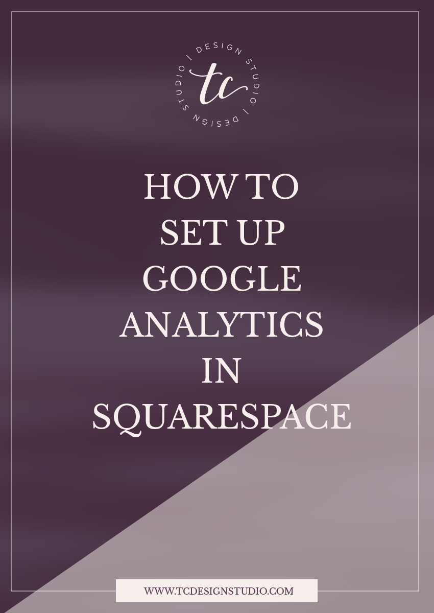 Setting up Google Analytics in Squarespace