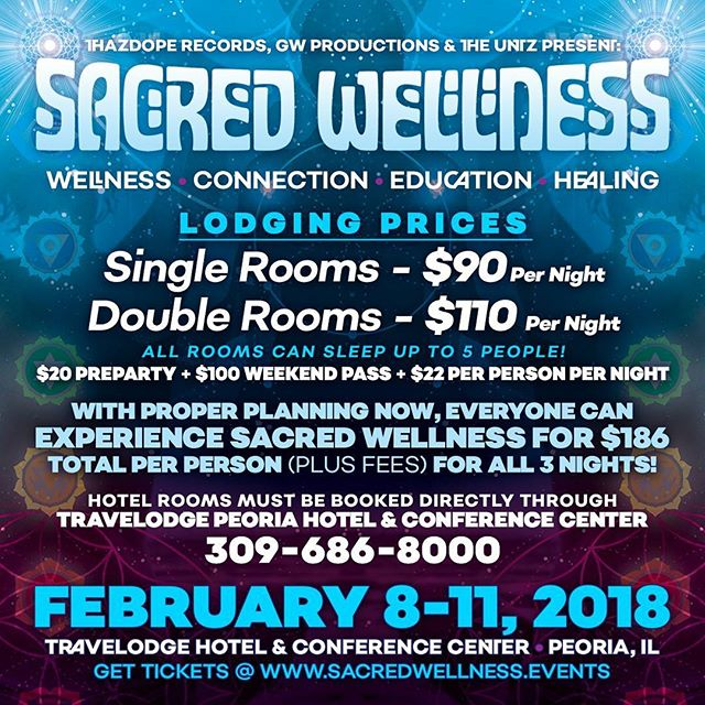 Just announced!  Get on with the crew and let's have a weekend of growth and memories.  #sacredwellness #thazdope #theuntz