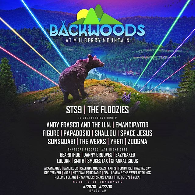Backwoods!  @thazdoperecords in full effect with late night sets all weekend.  Mark your calendars, folks.  This is a big wan.  #todaywasagoodday #backwoods2018