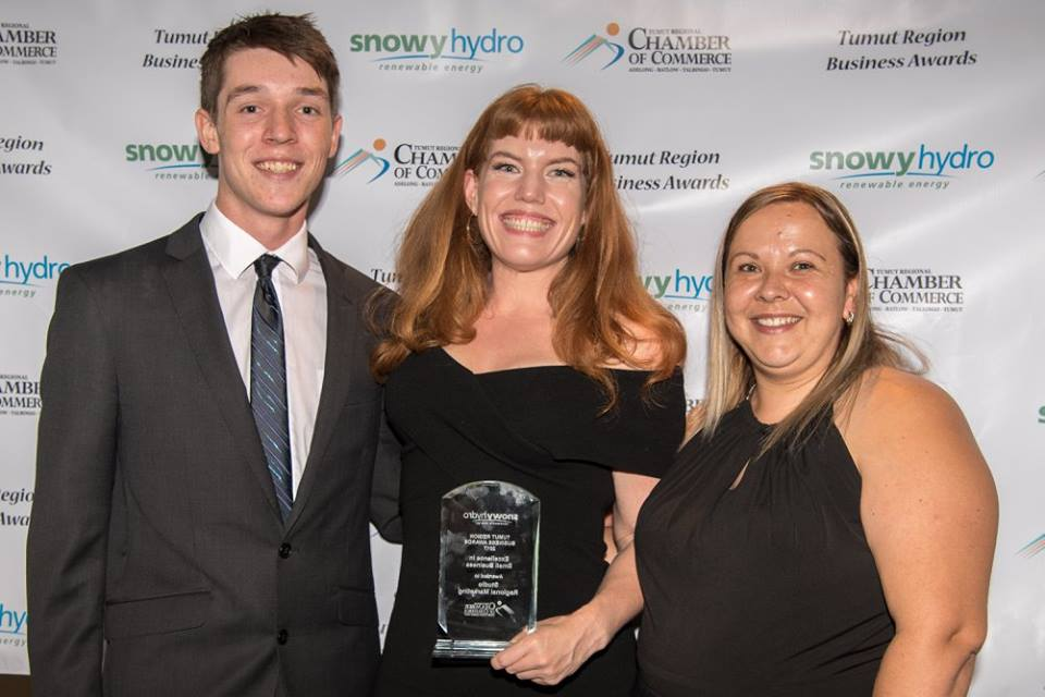 Ben Buckman, Sarah Miller, and our beautiful award sponsor, Baby Levi's Mum, from Sureway Employment.