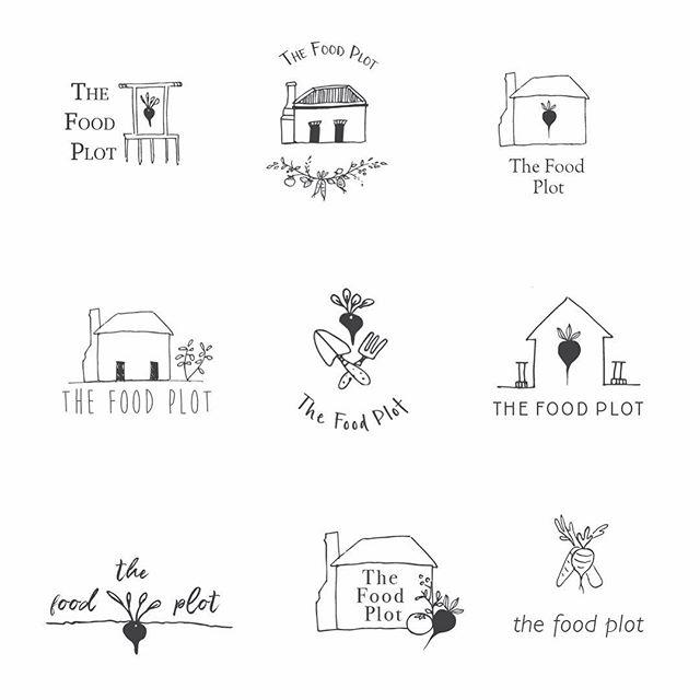 Logo selection using logos combing both my drawings and Skye's @thefoodplot_gundagai drawings ♥️ . #graphicdesign #logo #farm #illustration #country #organic #womeninbusiness