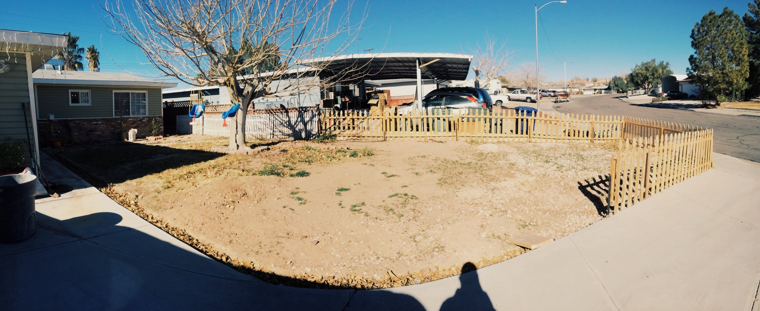 Front Yard Makeover Stage 1 Panorama Photo