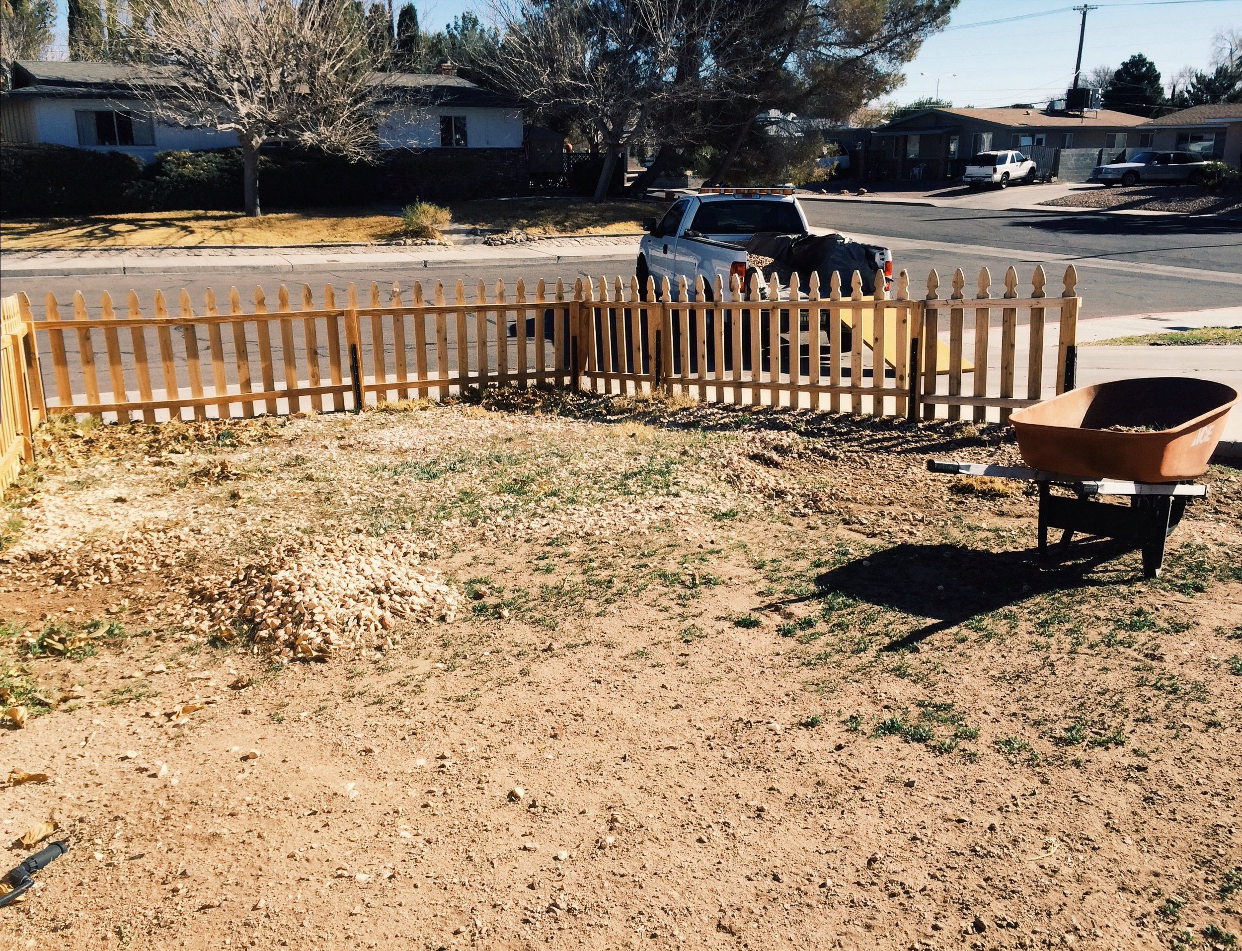 Stage 1 Of Our Front Yard Makeover - Digging Out Rock