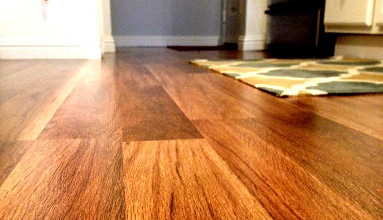 Photo of Installed Laminate Flooring