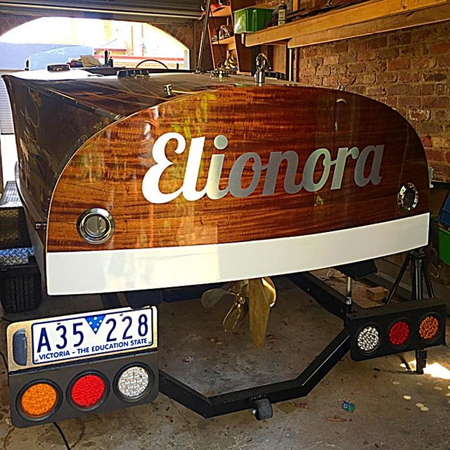 At last she has her name #elionora #woodenboat #woodenboats #woodworking #woodwork #boatbuilding #classicboats