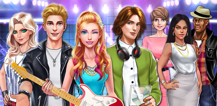 Pop Star Celebrity Love Story  Welcome to Pop Star Celebrity Love Story! It's an interactive love story with visual stories, minigames and it's up to YOU to find out who's your superstar date!