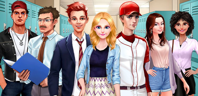 High School Prom Love Story  Welcome to High School Prom Love Story! Set at a high school campus, it's an interactive story with visual stories, minigames and it's up to YOU to find out who's your date for the prom!