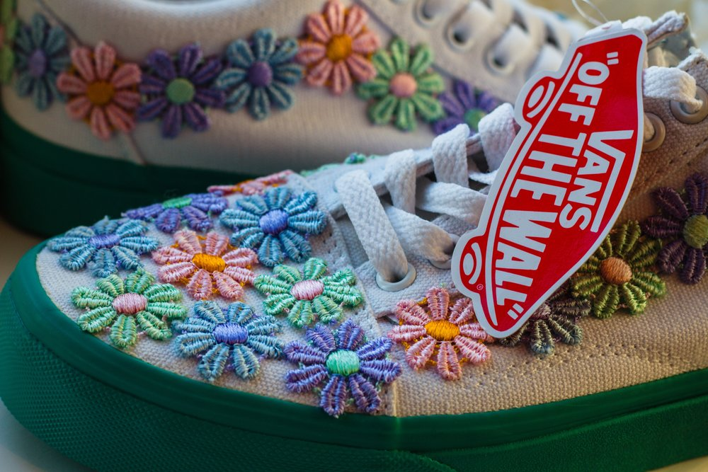 Flower Power - Pastel trainers with a differnece.