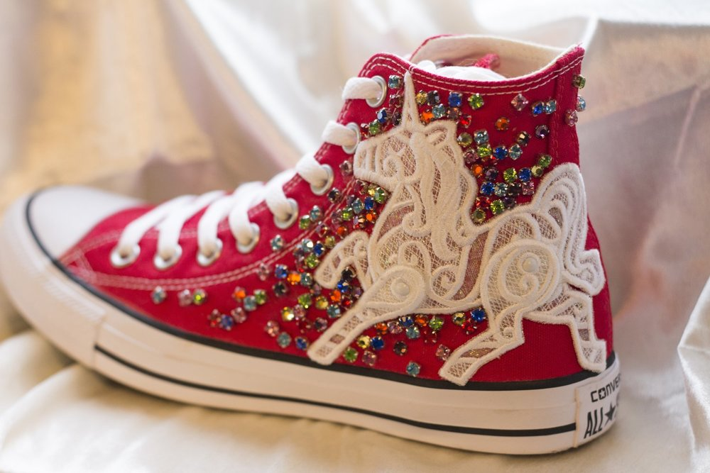 Bon Bon Silver Socks - For those who love to sparkle.