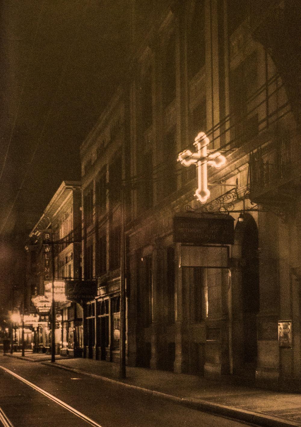 Front façade, circa 1900