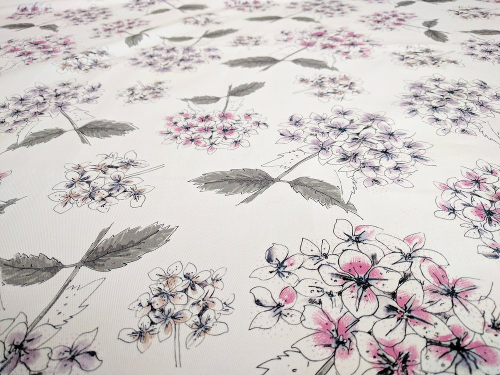 Seedhomedesigns Hydrangea Fabric 6