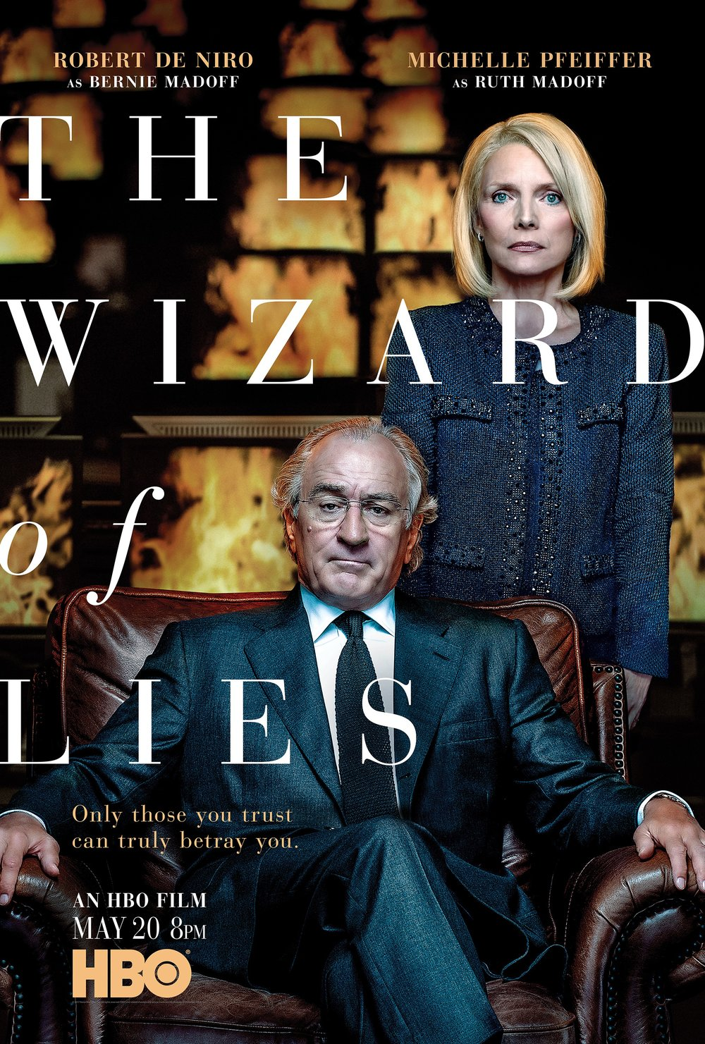 "ROBERT DENIRO AND MICHELLE PFEIFFER FOR ""THE WIZARD OF LIES"", PRODUCED BY HBO"