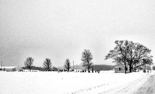 Cemetery in Snow