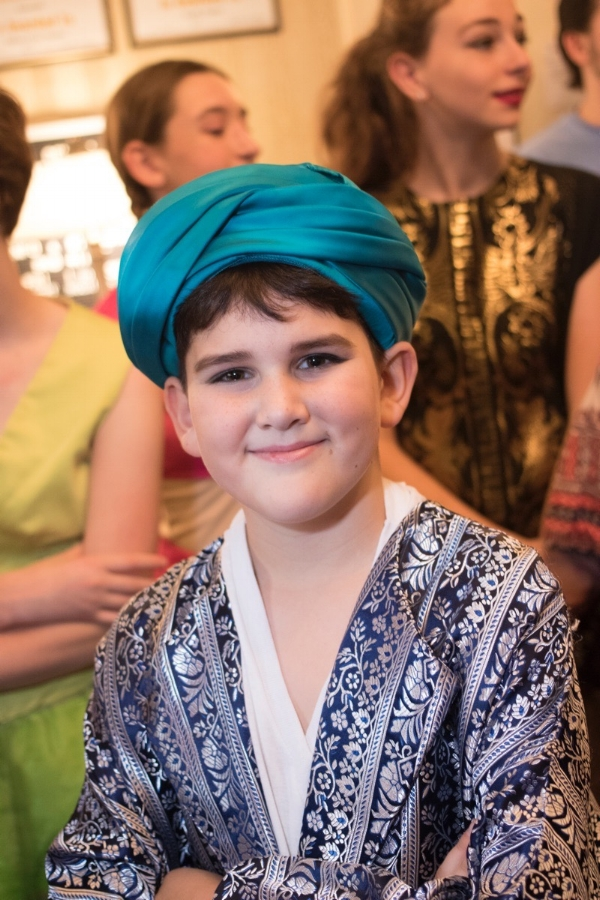 "Young actor in ""Aladdin, Jr."""