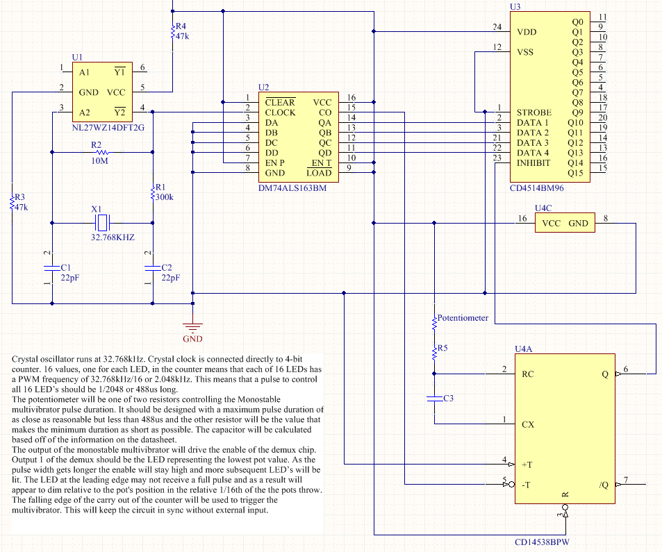 Synthesizer LED display schematic