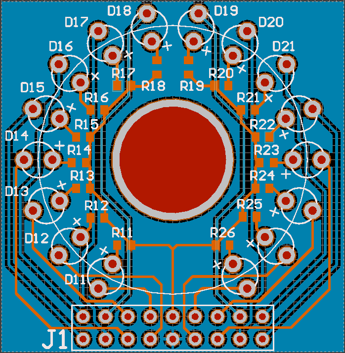 Synthesizer LED display board