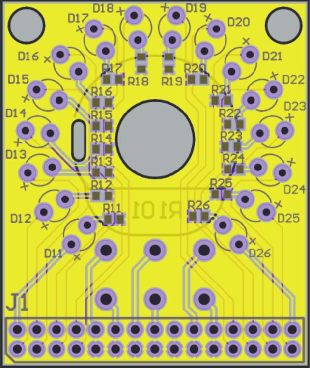 LED board layout