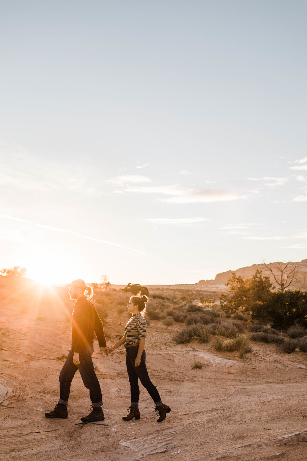Sunset in the desert | Utah Adventure Wedding Photographer