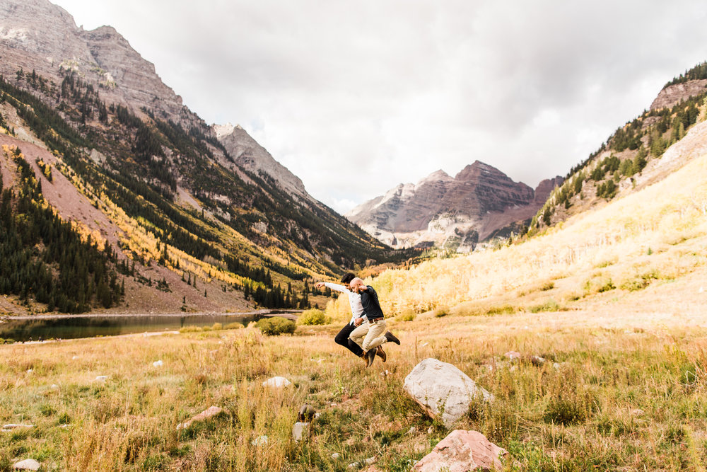 Aspen, Colorado Rocky Mountain Engagement Session | wedding photographers near Maroon Bells