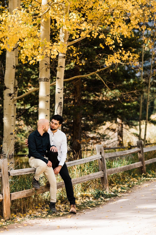 Maroon Bells Rocky Mountain Engagement Session | wedding photographers near Aspen Colorado