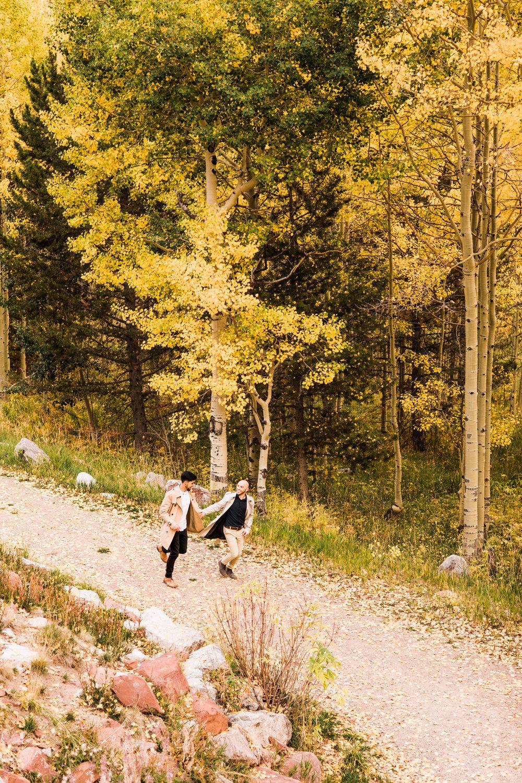 Aspen, Colorado Rocky Mountain Engagement Session | elopement photographers near Maroon Bells