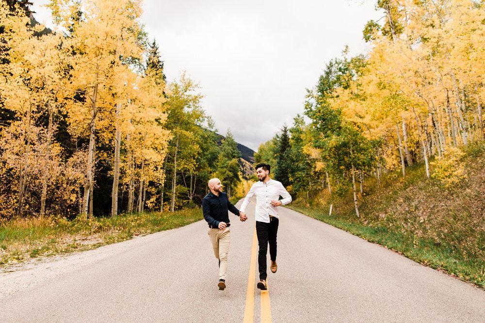 Maroon Bells Rocky Mountain Engagement Session | elopement photographers near Aspen Colorado