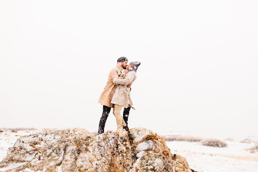 Independence Pass Rocky Mountain Adventure Mountain Engagement Session | wedding photographers near Aspen Colorado