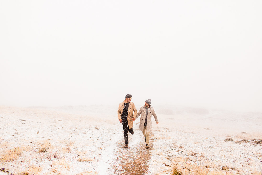 Independence Pass Rocky Mountain Adventure Mountain Engagement Session | elopement photographers in Aspen Colorado