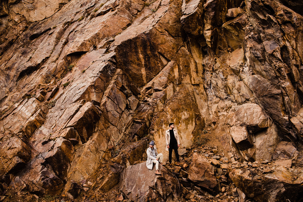 Aspen, Colorado Independence Pass Rocky Mountain Adventure Mountain Moody Hiking Adventure Session | Maroon Bells elopements