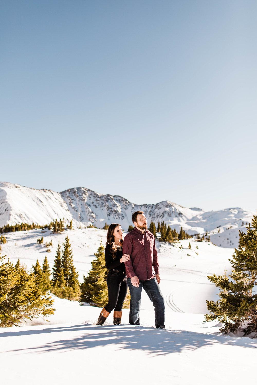 Breckenridge Colorado Adventure Session Engagement Session | Colorado Elopement Photographer