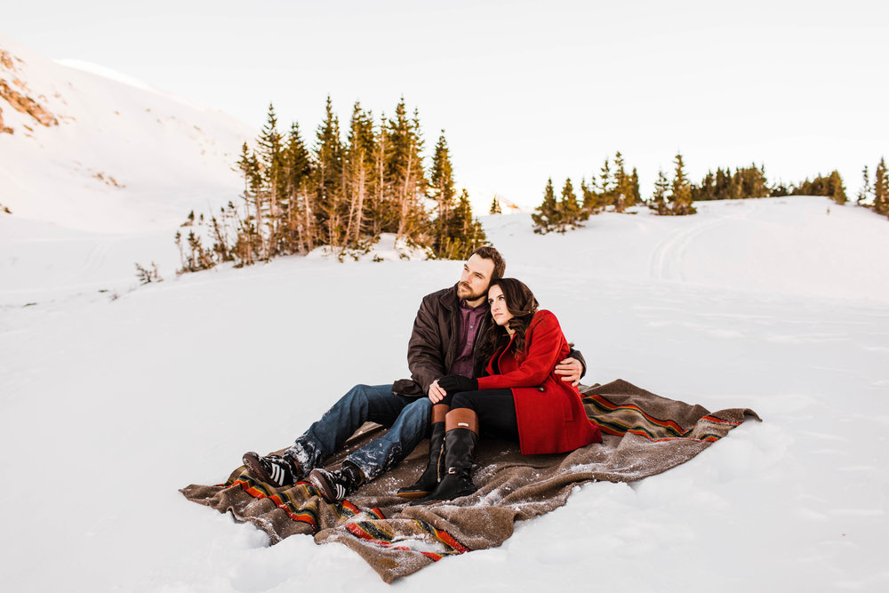 Adventure Session in the snow | Colorado Elopement Photographer