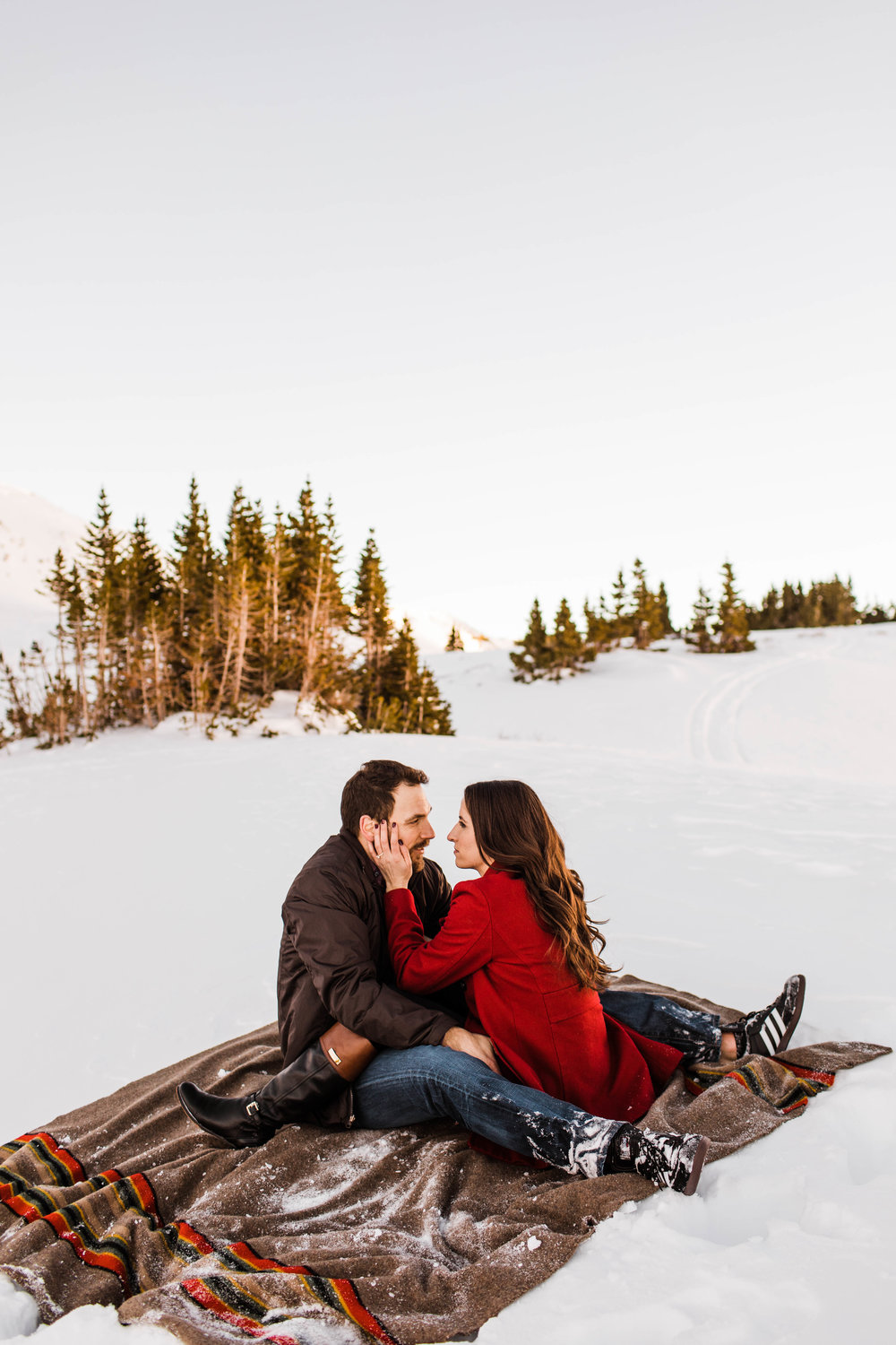 Engagement Session in the snow | Colorado Elopement Photographer