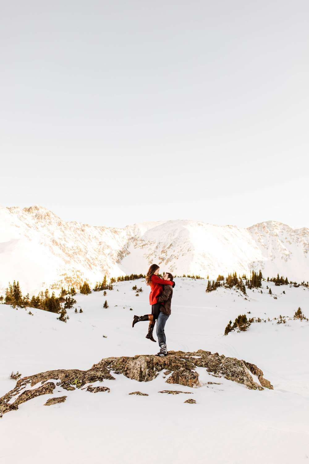 Winter Rocky Mountain Elopement Photography