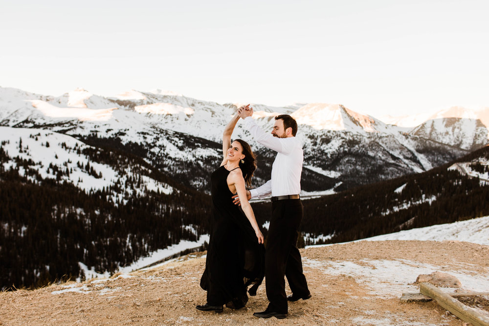 Dancing in the snow | Colorado Elopement Photography