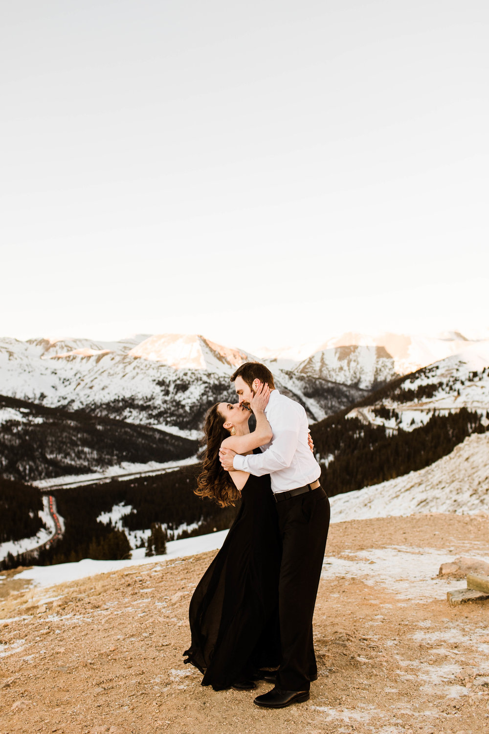 First kiss in the snow | Colorado elopement photography
