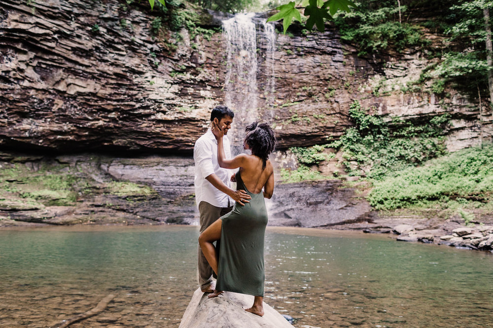 Waterfall Asheville Adventure Session | Asheville Elopement Photographer 1