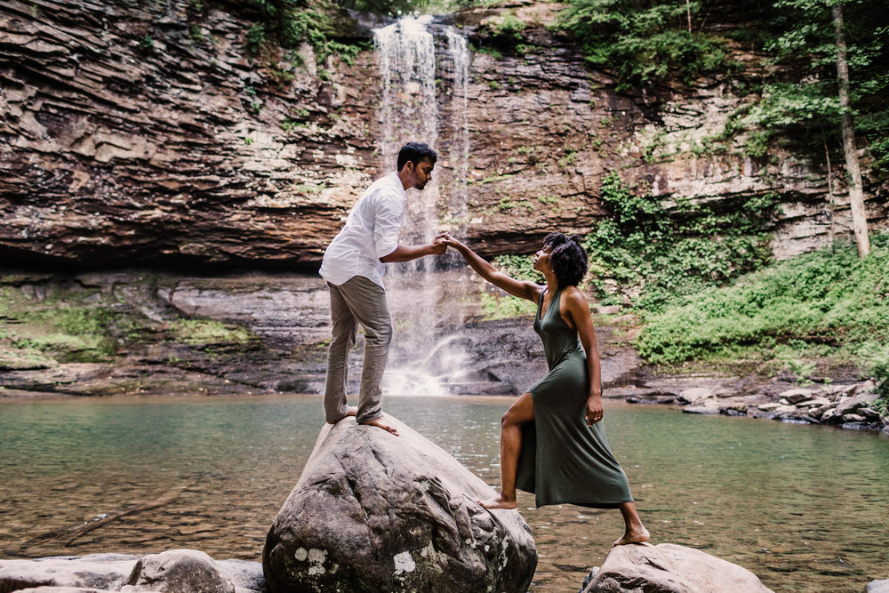 Outdoors Summer Adventure Session | Asheville Elopement Photographer 2