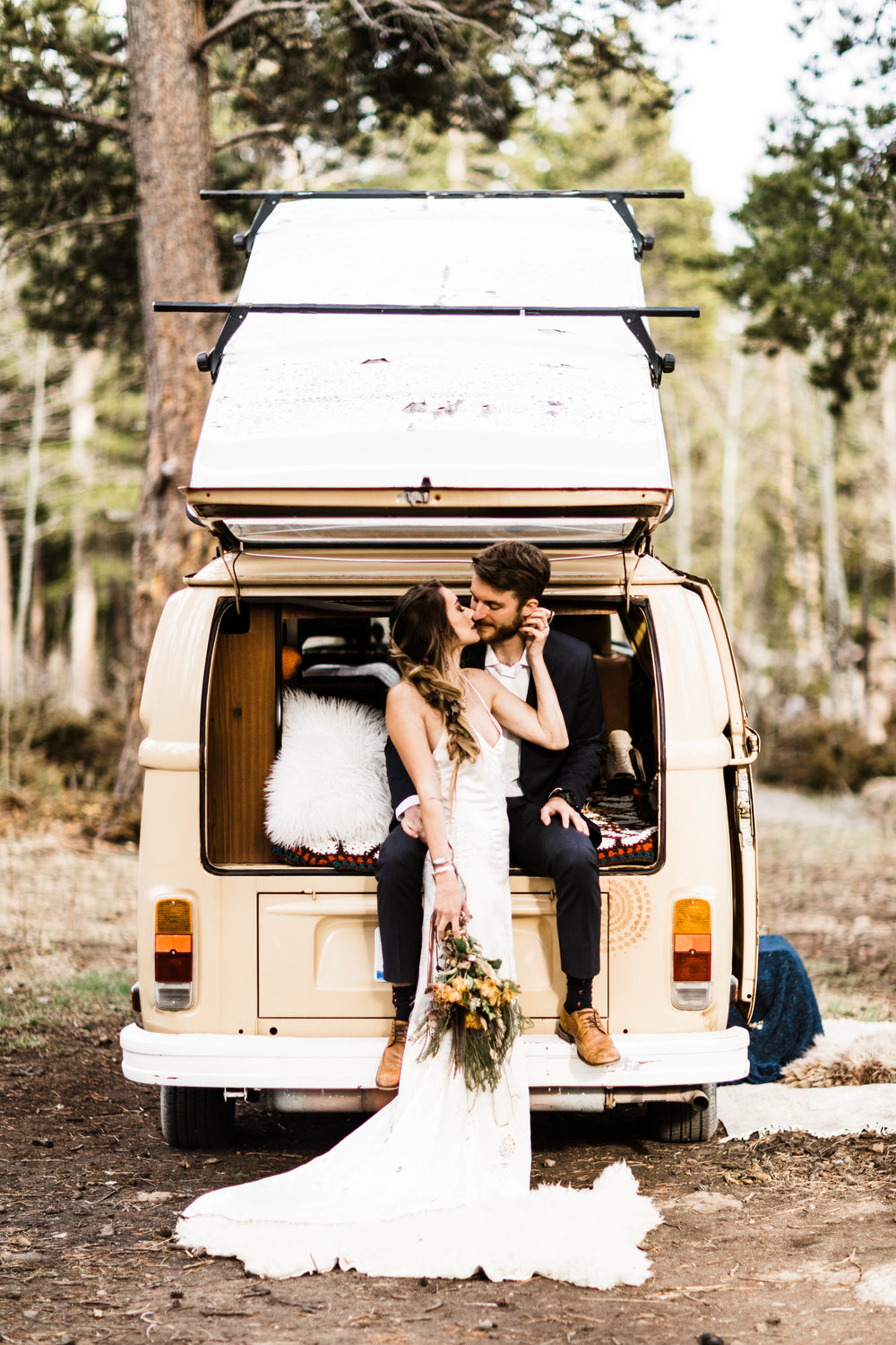 Rocky Mountain Camper Van Life Colorado Elopement | Colorado Adventure Wedding Photographers